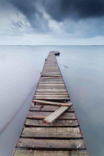 ponton de l'étang de thau
