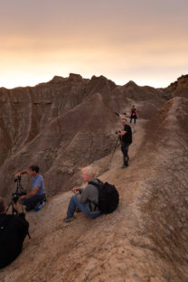 backstage photo trip in the desert of the bardenas reales in spain in the region of navarra