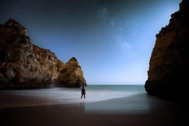 la nuit sur la Praia do Barranco do Martinho
